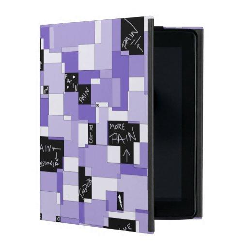 Purple Pain Modular Art iPad Folio Case