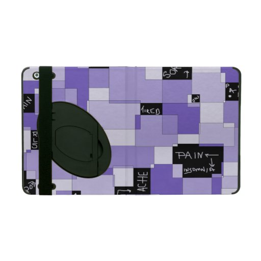 Purple Pain Modular Art iPad Case
