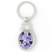Purple Pain Modular Art Keychain