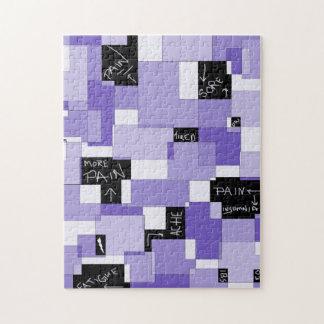 Purple Pain Modular Art Jigsaw Puzzles