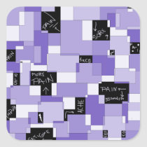 Purple Pain Modular Art Square Sticker