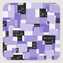 Purple Pain Modular Art Square Sticker