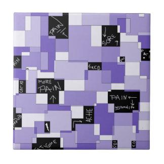 Purple Pain Modular Art Small Square Tile
