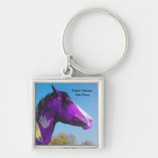 Purple Paint Horse War Pony Keychain