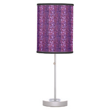Purple Paint Splatter Desk Lamp