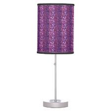 Purple Paint Splatter Desk Lamp