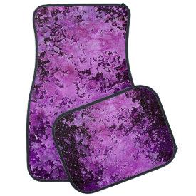 Purple paint splatter grunge texture floor mat