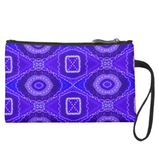 Purple Painted Gypsy Medallion - Quaraun CosPlay Suede Wristlet