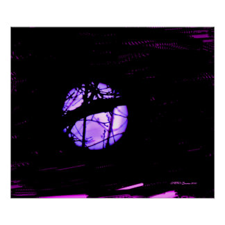 Purple Painted Moon Poster