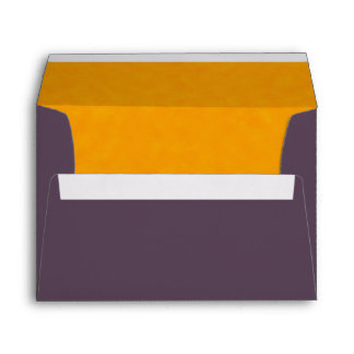 Purple Painted Orange Elegant Simple Chic Envelope