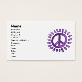 purple painted peace sign Business Card