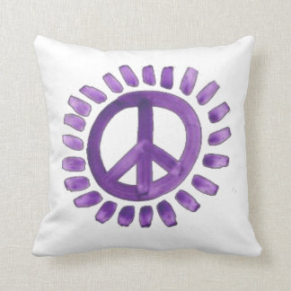 purple painted peace sign  Pillows