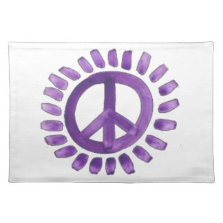 purple painted peace sign  Placemats