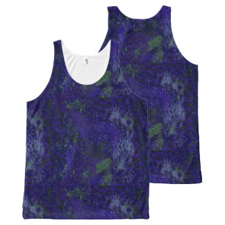 Purple Painterly Abstract All Over Print T-Shirt