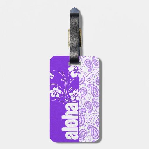 Purple Paisley; Aloha, Hibiscus Bag Tag