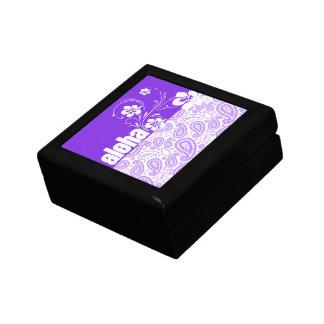 Purple Paisley; Aloha, Hibiscus Jewelry Boxes