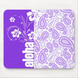 Purple Paisley; Aloha, Hibiscus Mouse Pad