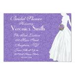 Purple Paisley Bridal Shower Personalized Announcement