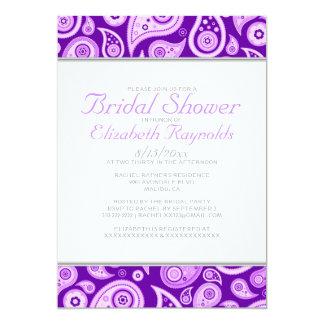 Purple Paisley Bridal Shower Invitations