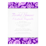 Purple Paisley Bridal Shower Invitations Cards