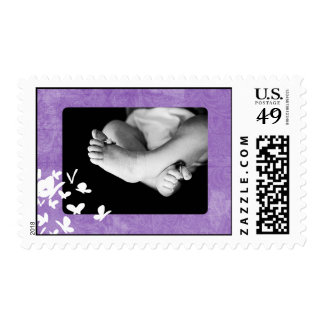 Purple Paisley Butterfly Customizable Stamp