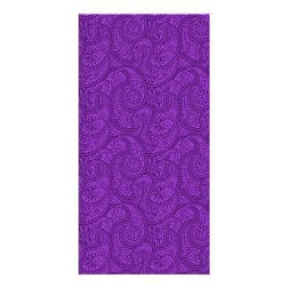 Purple Paisley Card