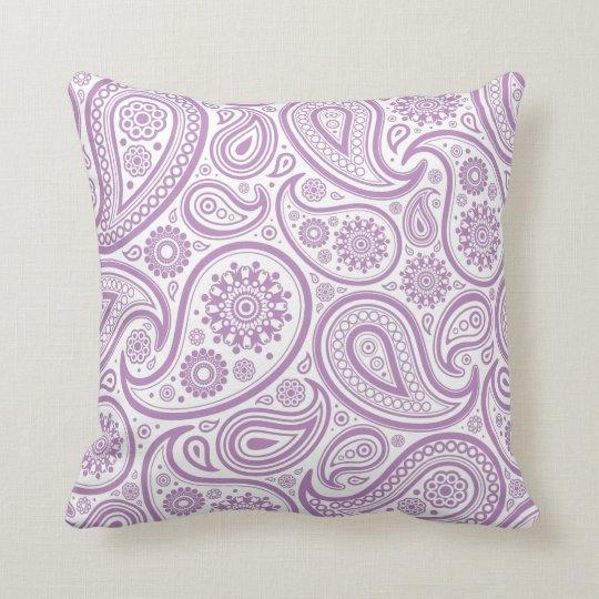 Purple Paisley Floral Pattern Pillow