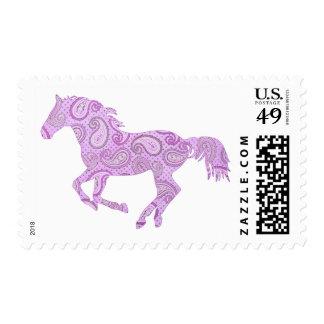 Purple Paisley Horse Stamp