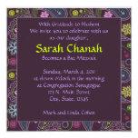 Purple Paisley Invitation