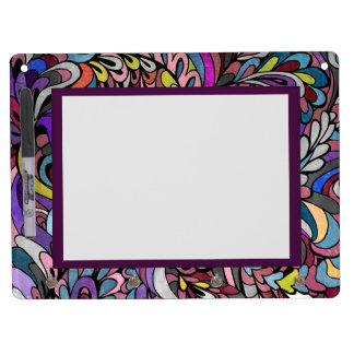 Purple Paisley Large Dry Erase White Board Hooks