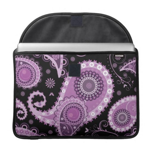 Purple Paisley MacBook Flap Sleeve MacBook Pro Sleeve