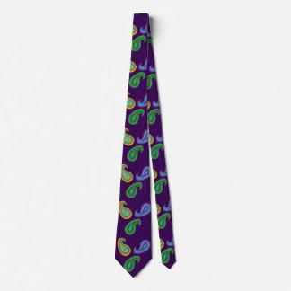 Purple Paisley Neck Tie