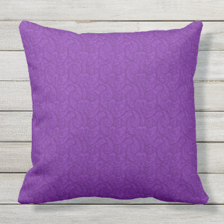 Purple Paisley Outdoor Pillow