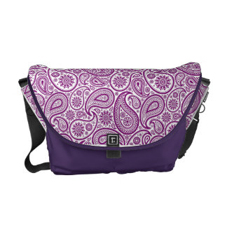 Purple Paisley Pattern #2 Messenger Bag