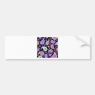 Purple Paisley Pattern Bumper Sticker