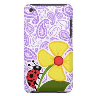 Purple Paisley Pattern; Ladybug iPod Touch Cover
