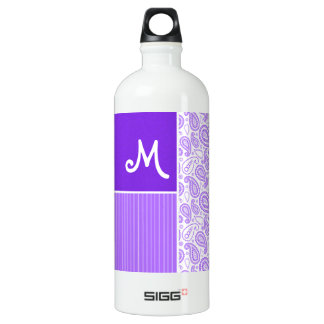 Purple Paisley Pattern SIGG Traveler 1.0L Water Bottle