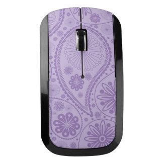 Purple paisley pattern wireless mouse