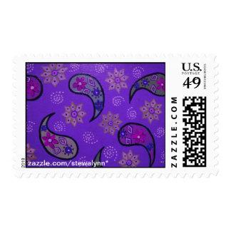 Purple Paisley Postage