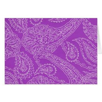 Purple Paisley Print Summer Fun Girly Pattern Note Card