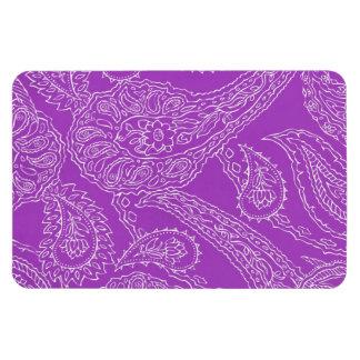 Purple Paisley Print Summer Fun Girly Pattern Rectangular Magnets