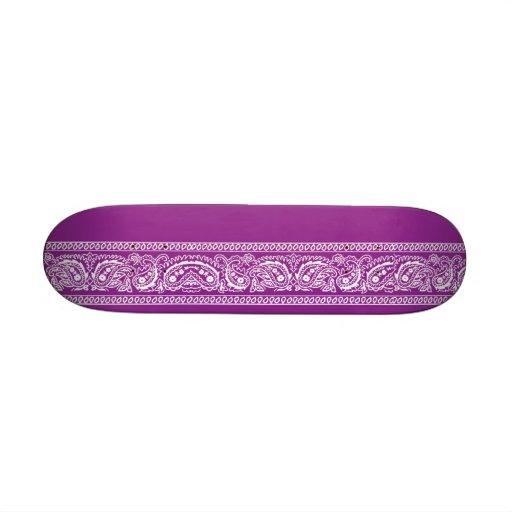 Purple Paisley Skateboard Mini