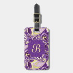 Purple Paisley Smooth Gradient Background Bag Tags