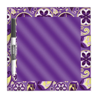Purple Paisley Smooth Gradient Background Dry Erase Board
