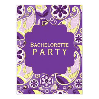 Purple Paisley Smooth Gradient Background Personalized Invite