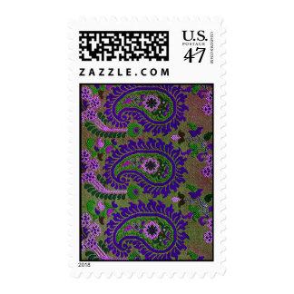 Purple Paisley Stamp