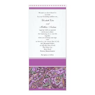 Purple Paisley Wedding Invitation