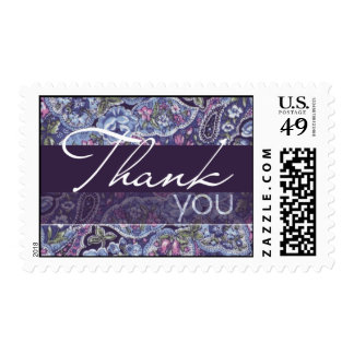 Purple Paisley Wedding Postage