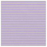 [ Thumbnail: Purple & Pale Goldenrod Colored Stripes Fabric ]