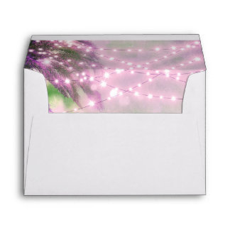 purple palm tree lights envelopes